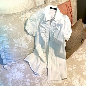 Limited fitted white button down